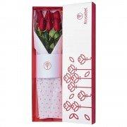 Caja Blanca con 6 Rosas
