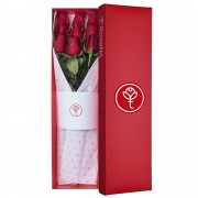 Caja Roja con 9 Rosas