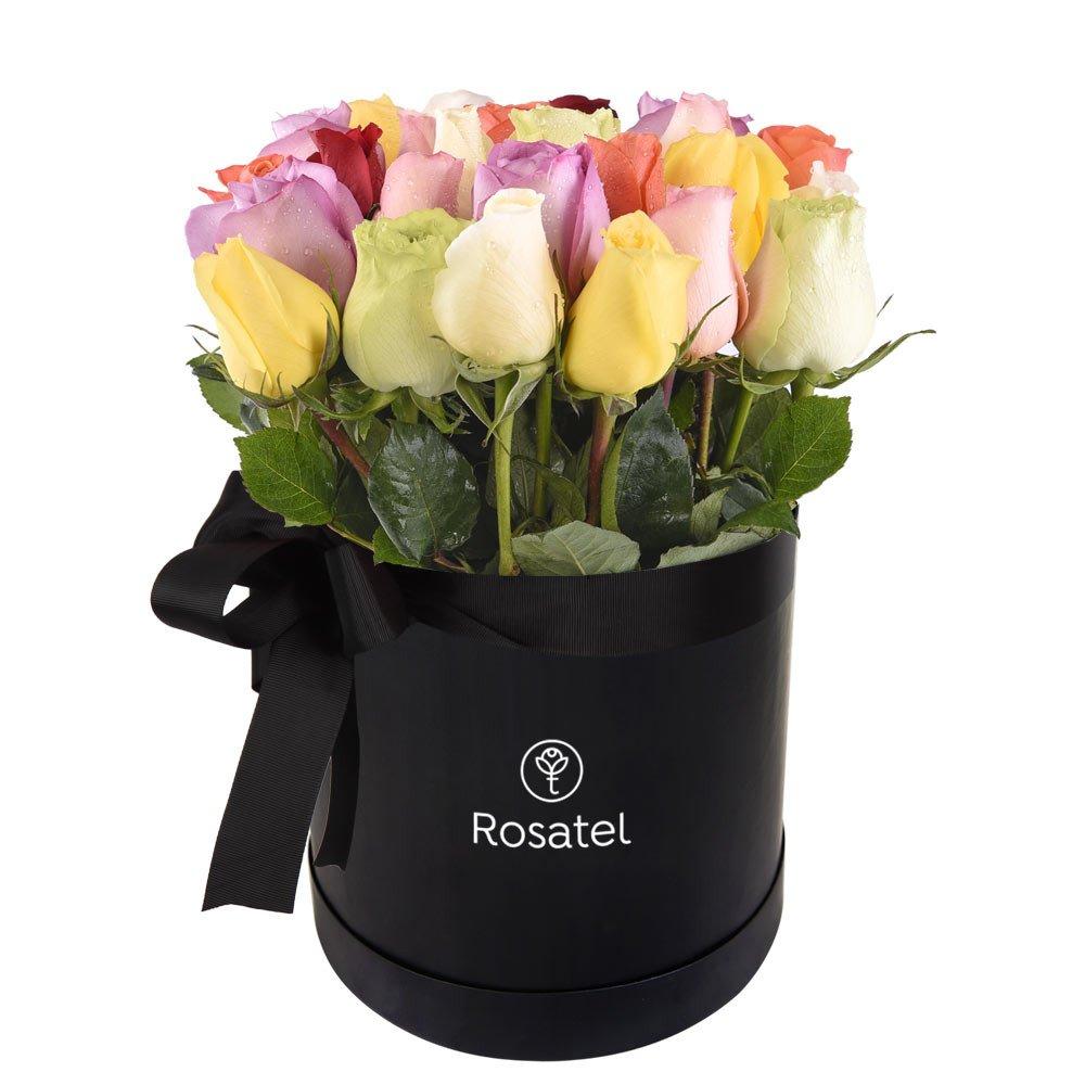 Sombrerera Negra 25 Rosas Edición Aniversario