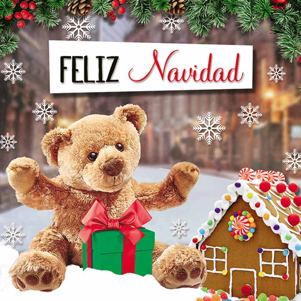 Tarjeta 3D Hugo & Huguette Feliz Navidad Rosatel