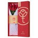 Caja 3R Roja Rosatel con 6 Rosas Rojas Rosatel