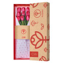 Caja 3R Roja Rosatel con 9 Tulipanes Rojos Rosatel