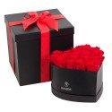 Sombrerera Grande corazón con 18 Rosas Preservadas Rosatel