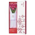 Caja blanca Rosatel con 12 Tulipanes Rosatel