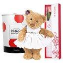 Caja Blanca con Rosa y Huguette con vestido en Lata Rosatel