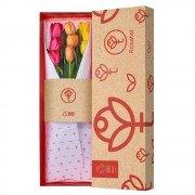 Caja 3R Natural Rosatel con 9 Tulipanes