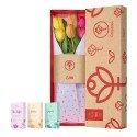 Caja 3R Natural Rosatel con 9 Tulipanes y Pack colonias Mil Fleurs Rosatel