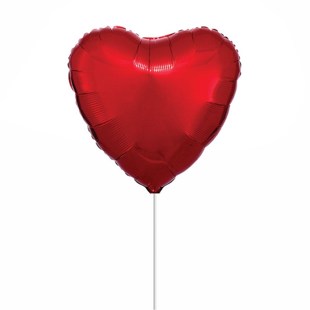 """Globo 18"""" Corazón Rojo Metálico Rosatel"""