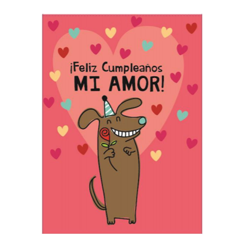 Tarjeta Jumbo Cumpleaños Mi Amor Rosatel