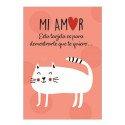 Tarjeta Mi Amor Gatito Blanco Rosatel