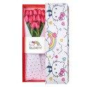 Caja Arcoiris Hello Kitty con 12 Tulipanes Rojos Rosatel