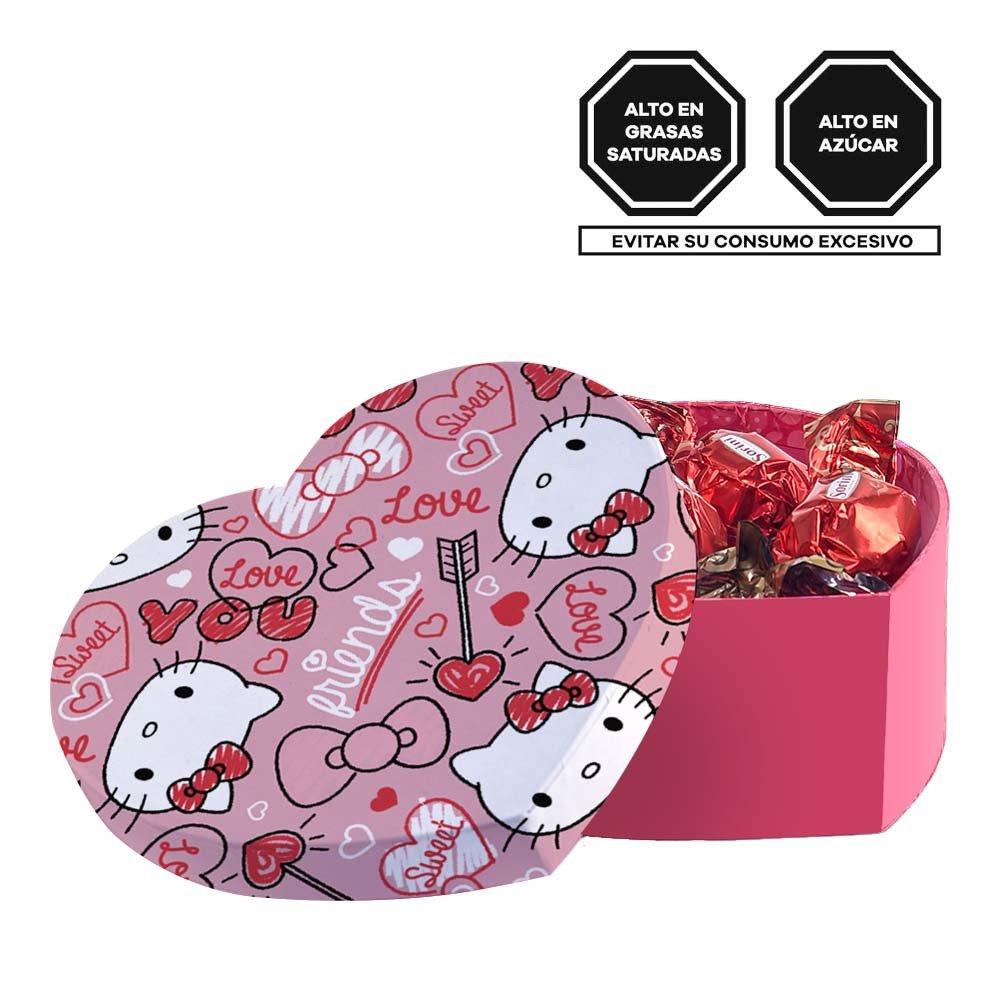 Caja Corazón Love Hello Kitty con Bombones Sorini Rosatel