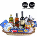 Canasta JW Black Vino Enemigo y Snacks Rosatel