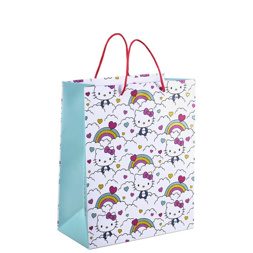 Bolsa Mediana Línea Arcoíris Hello Kitty Rosatel