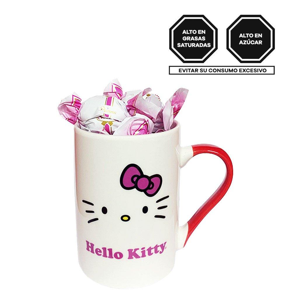 Taza Línea Lazos Hello Kitty con Bombones Sorini Panna Rosatel