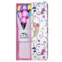 Caja Arcoíris Hello Kitty con 9 Rosas Arcoíris Rosatel