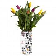 Cerámica con Diseño 10 Tulipanes