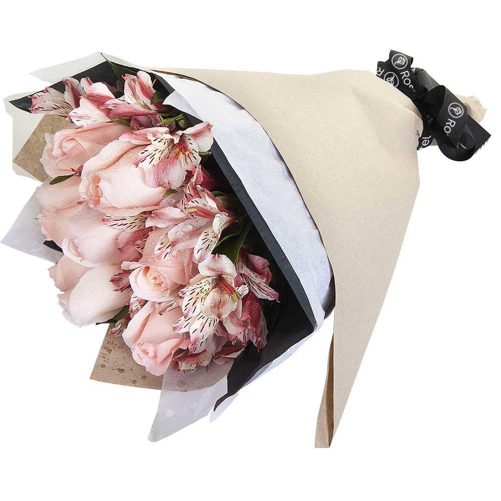 Ramo con 8 Rosas Rosadas