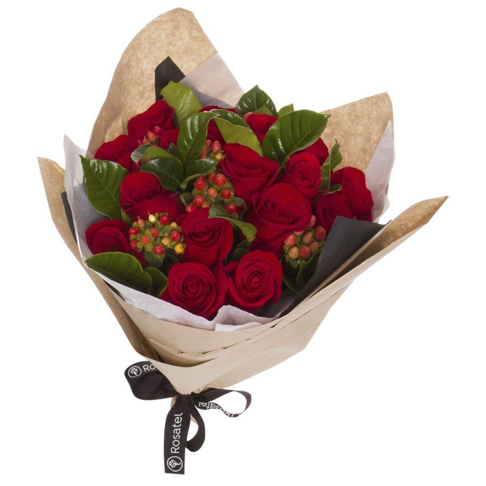 Ramo 15 Rosas Rojas y Flores