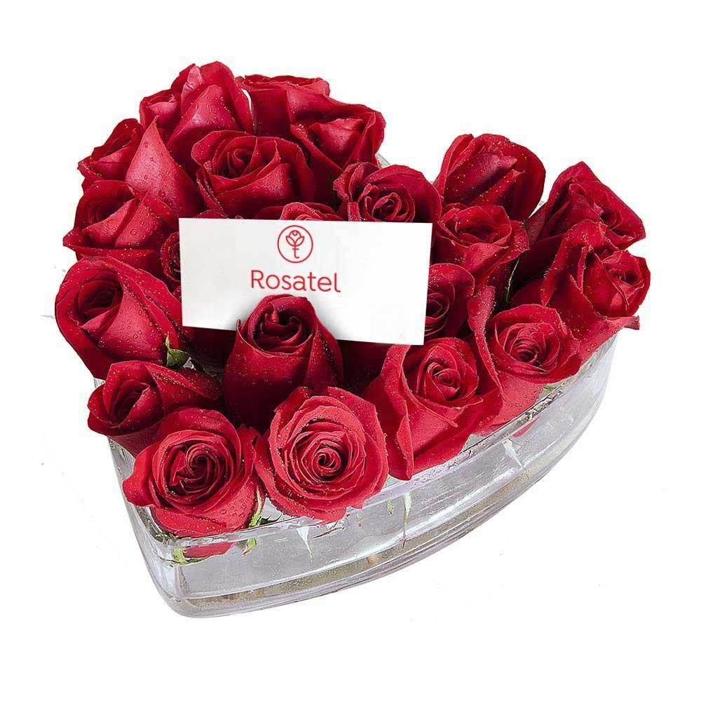 Arreglo Corazón Con 22 Rosas Rosatel Lima