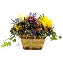 Canasta 8 Rosas y Flores