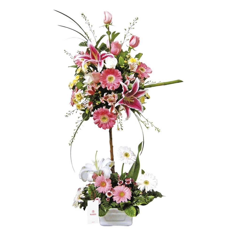 Topiario con Rosas y Flores