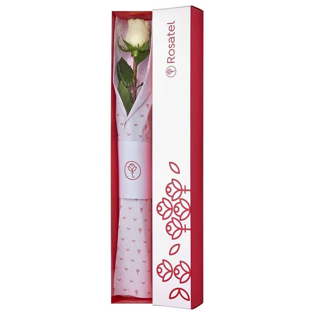 Caja blanca con Una Rosa